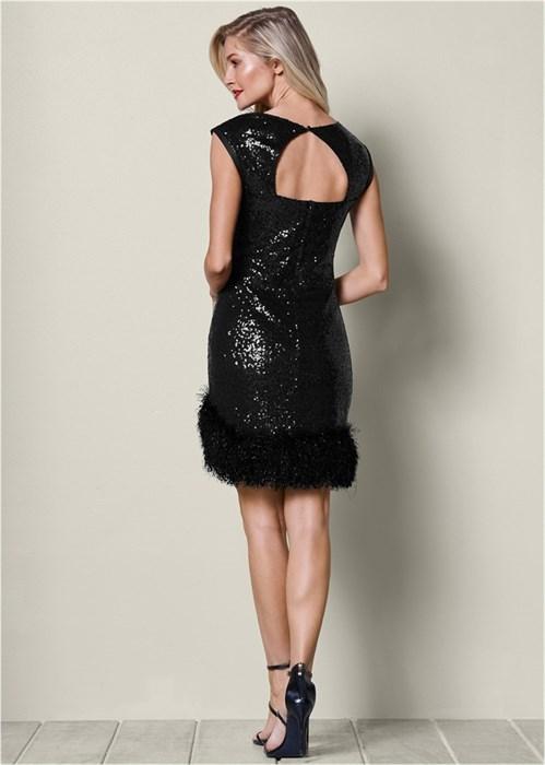 Платье Bodycon Sequin - фото 4506