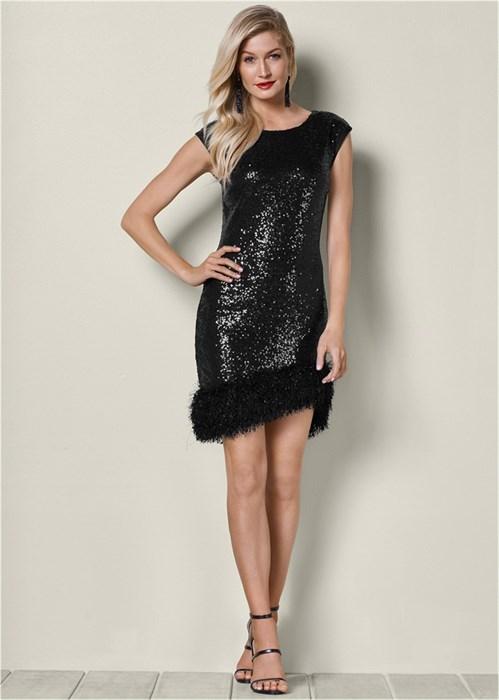 Платье Bodycon Sequin - фото 4507