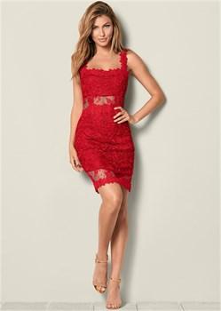 Платье Lace Bodycon - фото 4504