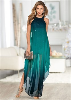 Платье Ombre Glitter Long