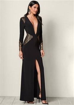Платье Plunging V-Neck Long